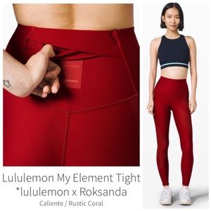 LULULEMON X ROKSANDA COLLAB My Element Tight Sz 4